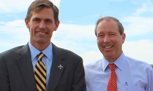 New Mexico Senators Tom Udall (r) and Martin Heinrich (l), both Democrats